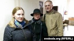 Алена Шабуня, Тацяна Севярынец, Георгі Станкевіч у судовай залі