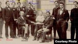 Elevii lui Diémer între care Victor Staub, Lazare-Lévy, Cortot (Foto: prin curtoazia lui Frédéric Gaussin)