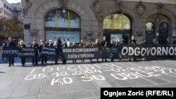 Protestna akcija Žena u crnom u centru Beograda