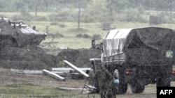 Блок-пост российской армии. Поти, 11 сентября 2008 года.