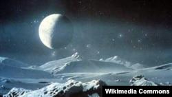 Sateliti Charon - më i madhi planetës Pluton, që është zbuluar në vitin 1978, në një observator kozmik në Shtetet e Bashkuara