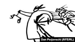 Desen Dan Perjovschi - Justitia PSD