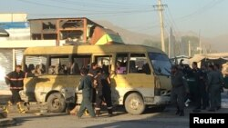 Bombaly hüjümiň bolan ýeri, Kabul, 20-nji iýun, 2016.