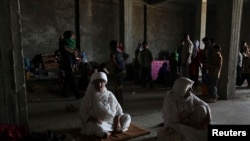 Вынужденные переселенцы из числа езидов. Дахук, 7 августа 2014 года.