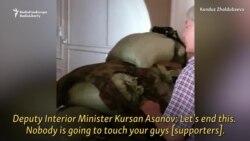 Wideo ozalky gyrgyz prezidentiniň tabyn bolşuny görkezýär