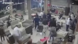 Security Camera Shows Panic As Iran-Iraq Quake Hits