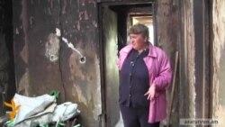 Սպիտակցի ընտանիքն ապրում է մոխիրների մեջ. տունն այրվել է, փոխհատուցում դեռ չեն ստացել
