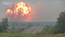Massive Explosions Seen At Ammunition Depot In Ukraine