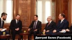 На встрече с президентом САР Башаром Асадом, 17 января 2019 года. В центре – Башар Асад. Дмитрий Саблин – второй слева