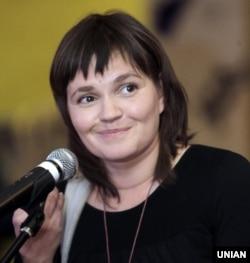 Леся Литвинова на врученні волонтерської премії «Євромайдан SOS» в Києві, 30 листопада 2014