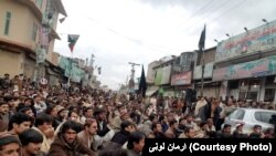 Loralai district has been the scene of previous violence, like the attack on police headquarters that prompted this demonstration in January.