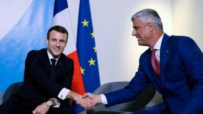 Predsednik Kosova Hašim Tači sa predsednikom Francuske Emanuelom Makronom u Parizu, 12. novembra