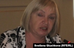 """Тамара Калеева, президент организации """"Адил соз"""". Астана, 12 июля 2012 года."""