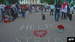 Сирияға байланысты АҚШ-та өткен шерудің бірі. Вашингтон, 21 тамыз 2013 жыл. (Көрнекі сурет)