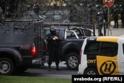 Рэдакцыйны аўтамабіль АНТ падчас акцыі пратэсту 8 лістапада