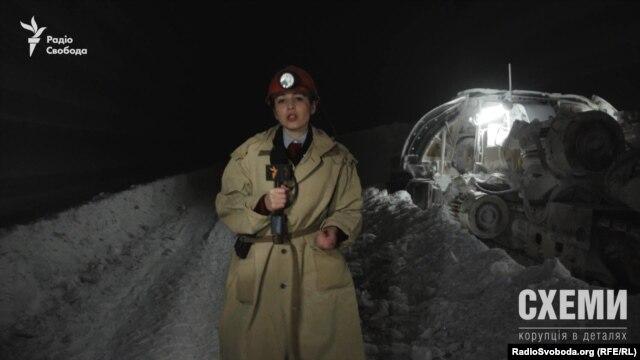 Знімальна група «Схем» у Соледарі в соляній шахті, 260 метрів під землею