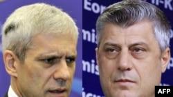 Predsednik Srbije Boris Tadić i premijer Kosova Hašim Tači