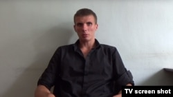 Александр Брыкин во время допроса.