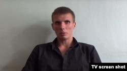 Задержанный по подозрению в участии в боевых действиях на востоке Украины гражданин Узбекистана Александр Брыкин.