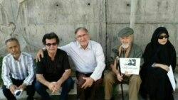 حمایت فعالان مدنی از «نسرین ستوده» مقابل زندان اوین در گفتوگو با محمد نوریزاد