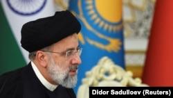 ابراهیم رئیسی، رئیس جمهور ایران در نشست سران کشورهای اعضای سازمان همکاری شانگهای در تاجیکستان.