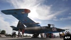 На российской авибазе в Канте.