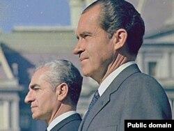 Президент США Ричард Никсон и шах Ирана Мохаммед Реза Пехлеви. Вашингтон, 1969 год