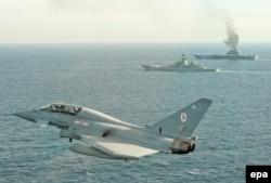 """Britanski avioni """"tajfun"""" su presreli ruske vazdušne operacije u blizini britanskog zračnog prostora"""