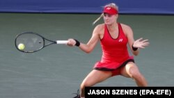 Українська тенісистка Даяна Ястремська під час турніру WTA