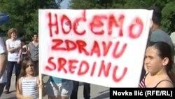 Protesti meštana protiv izgradnje kolektora