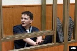 Надежда Савченко в суде в Ростовской области перед приговором. 22 марта