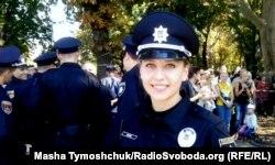 21-річна поліцейська Марія Жмуд вже скоро вийде у свій перший патруль