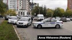 Ռուսաստան - Ոստիկանությունը դեպքի վայրում, Պերմ, 20-ը սեպտեմբերի, 2021թ.