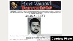 "A U.S. ""wanted"" notice for Nazih Abdul-Hamed al-Ruqai, known as Anas al-Libi, who was reportedly detained by U.S. forces in Libya in early October"