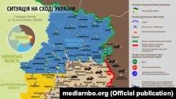 Ситуація в зоні бойових дій на Донбасі 10 січня – карта