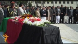 Rabbani Funeral Held Amid Tight Security