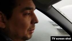Узбекистанец Боходир Ахмедов. Кадр из видеозаписи.