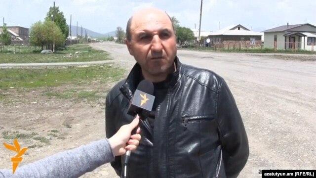Armenia - Koryun Sumbulian, the newly elected mayor of Bavra village, speaks to RFE/RL, 9Jun2014.