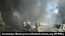 Пожежа на Майдані 7 серпня, що виникла внаслідок підпалу шин