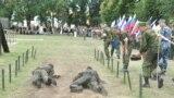 Militari ruşi în timpul exercițiilor, 7 august 2018