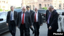 Armenia - The U.S., Russian and French co-chairs of the OSCE Minsk Group visit Yerevan, 16May2014.