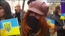 На марші у Санкт-Петербурзі заспівали національний гімн України