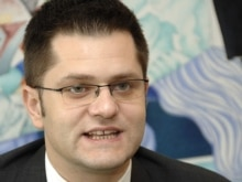 Belgium - Serbian Foreign Minister Vuk Jeremic at EU headquarters in Brussels, 26Jun2007