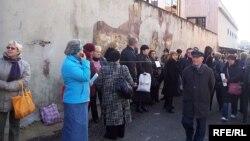 Українські заробітчани в очікуванні роботи, Рим, 5 січня 2010