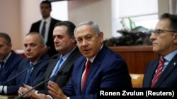 Benjamin Netanyahu kabinetin iclasında