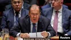 Сергій Лавров (на цьому фото він на засіданні Ради безпеки ООН 27 вересня 2018 року) веде лінію Москви проти повноцінної миротворчої операції ООН на окупованому Донбасі