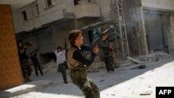Алеппо шаарындагы уруштардын бири 13-август, 2012-жыл.