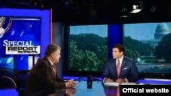 Президент України Петро Порошенко під час інтерв'ю американському телеканалу Fox News. Вашингтоні, 20 червня 2017 року