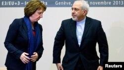 Европа берлегенең тышкы сәясәт башлыгы Кэтрин Эштон һәм Иран тышкы эшләр министры Мөхәммәд Җәүдәт Зариф