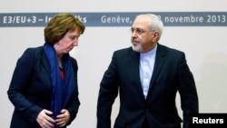 Глава внешнеполитического ведомства ЕС Кэтрин Эштон и глава МИД Ирана Джавад Зариф